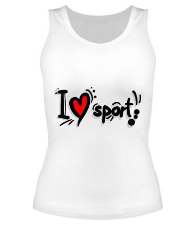 Женская майка борцовка Я люблю спорт