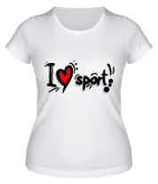 Женская футболка  Я люблю спорт