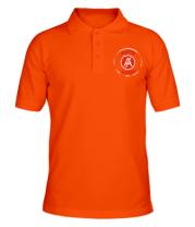 Футболка поло мужская Антихайп логотип