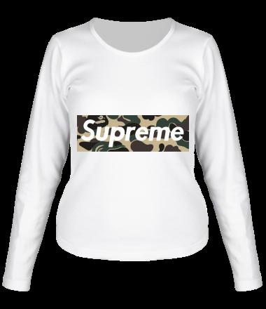Женская футболка с длинным рукавом Supreme