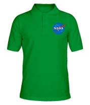 Футболка поло мужская NASA