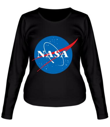 Женская футболка с длинным рукавом NASA