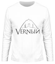 Мужская футболка с длинным рукавом Верный логотип