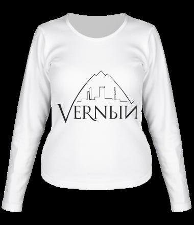 Женская футболка с длинным рукавом Верный логотип