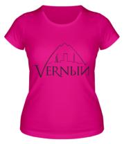Женская футболка  Верный логотип