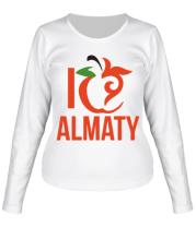 Женская футболка с длинным рукавом ALMATY