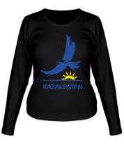 Женская футболка с длинным рукавом Казахстан