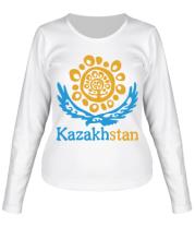 Женская футболка длинный рукав Казахстан