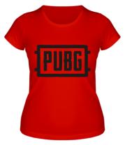 Женская футболка  PUBG