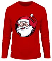 Мужская футболка с длинным рукавом Дед мороз