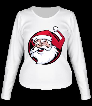 Женская футболка длинный рукав Дед мороз