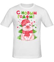 Мужская футболка  С Новым Годом 2019