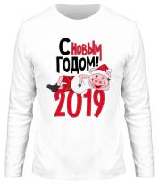 Мужская футболка с длинным рукавом С Новым Годом 2019