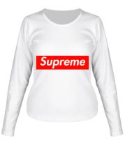 Женская футболка длинный рукав Supreme Classic