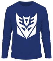Мужская футболка с длинным рукавом  Decepticons logo