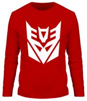 Мужская футболка длинный рукав  Decepticons logo