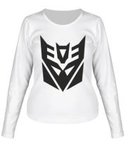 Женская футболка длинный рукав  Decepticons logo