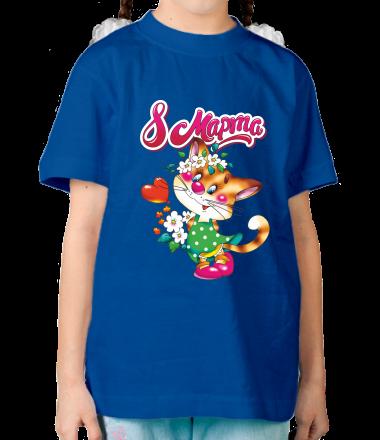 Детская футболка  8 марта