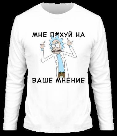 Мужская футболка с длинным рукавом Rick and Morty Русская версия