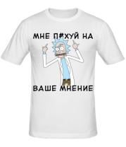 Мужская футболка  Rick and Morty Русская версия