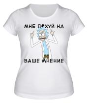 Женская футболка  Rick and Morty Русская версия