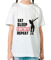 Детская футболка  Fortnite repeat dab