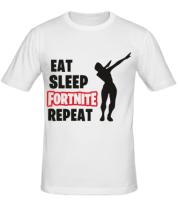 Мужская футболка  Fortnite repeat dab