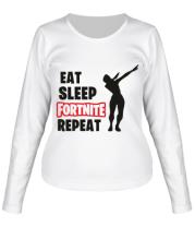 Женская футболка с длинным рукавом Fortnite repeat dab