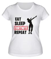 Женская футболка  Fortnite repeat dab