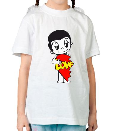 Детская футболка  Love is... мужская