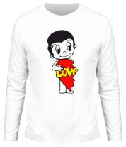 Мужская футболка с длинным рукавом Love is... мужская