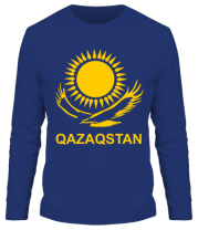Мужская футболка с длинным рукавом QAZAQSTAN