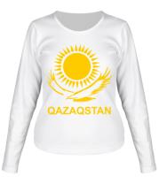 Женская футболка с длинным рукавом QAZAQSTAN