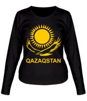 Женская футболка длинный рукав QAZAQSTAN