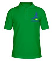 Мужская футболка поло QAZAQSTAN