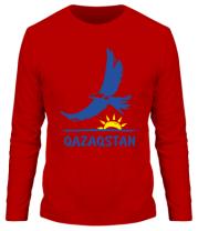 Мужская футболка длинный рукав QAZAQSTAN