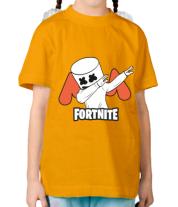Детская футболка  Dj Marshmello fortnite dab