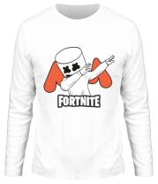 Мужская футболка с длинным рукавом Dj Marshmello fortnite dab