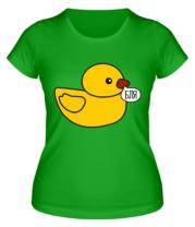 Женская футболка Утка материться