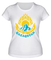 Женская футболка  Qazaqstan