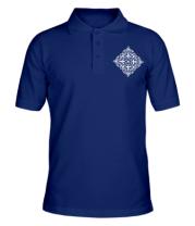 Мужская футболка поло Казахский орнамент
