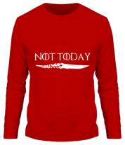 Мужская футболка с длинным рукавом  Game of Thrones: not today