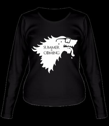 Женская футболка длинный рукав Summer is coming