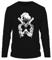 Мужская футболка длинный рукав Marilyn Monroe Gangster