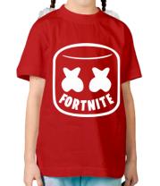 Детская футболка  Marshmello and Fortnite