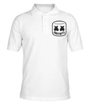 Футболка поло мужская Marshmello and Fortnite