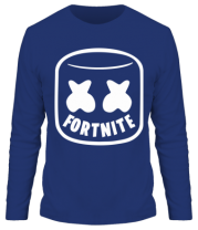 Мужская футболка с длинным рукавом Marshmello and Fortnite