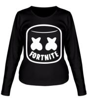 Женская футболка с длинным рукавом Marshmello and Fortnite