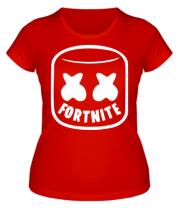 Женская футболка  Marshmello and Fortnite