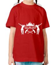 Детская футболка  Fortnite dancing logo